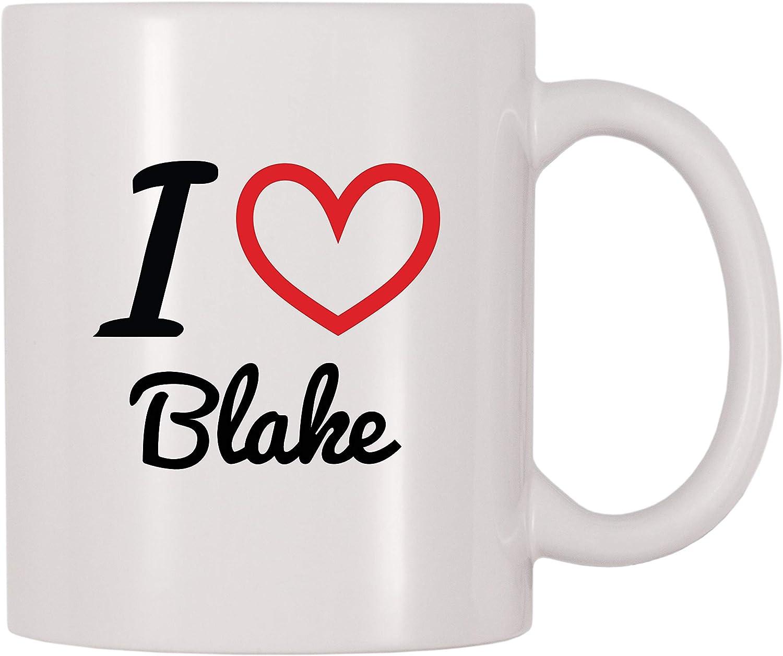 4 All Times I Love Blake Personalized Name Coffee Mug (11 oz)