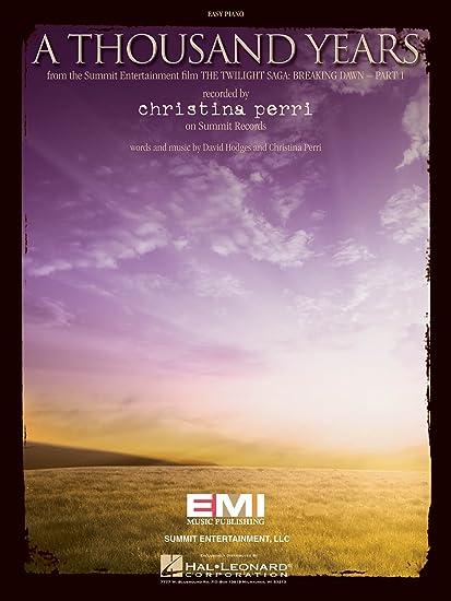 Amazon Christina Perri A Thousand Years Easy Piano Sheet