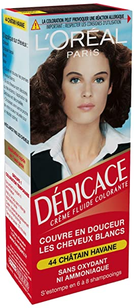 loral paris ddicace coloration temporaire sans ammoniaque 44 chtain havane lot - Coloration Cheveux Sans Ammoniaque Et Sans Oxydant