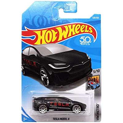 Hot Wheels 2020 HW Metro Tesla Model X 328/365, Black: Toys & Games