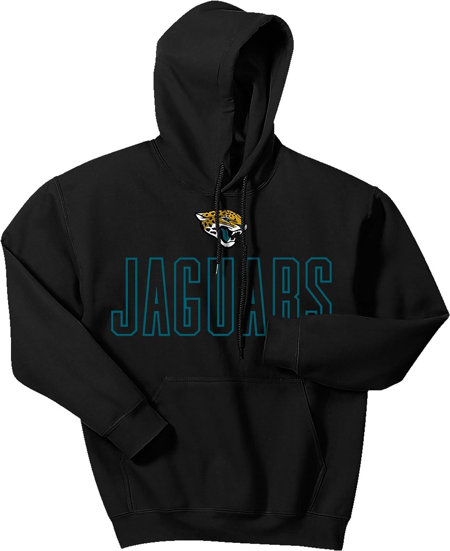 Large Zubaz NFL Jacksonville Jaguars Mens Open Letter Logo Hoodie Black