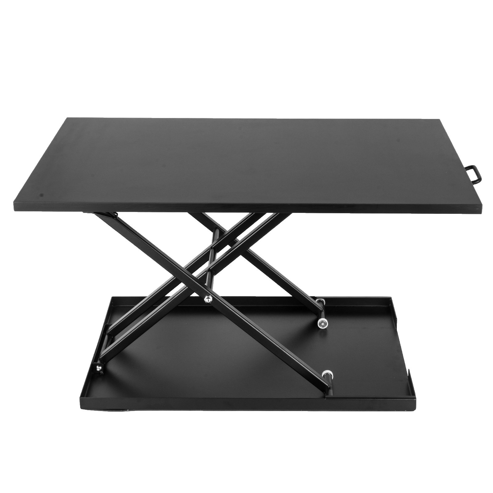 Superland 32''x22'' Standing Desk Adjustable Height Stand Up Desk Computer Workstation Lift Rising Laptop (Black)