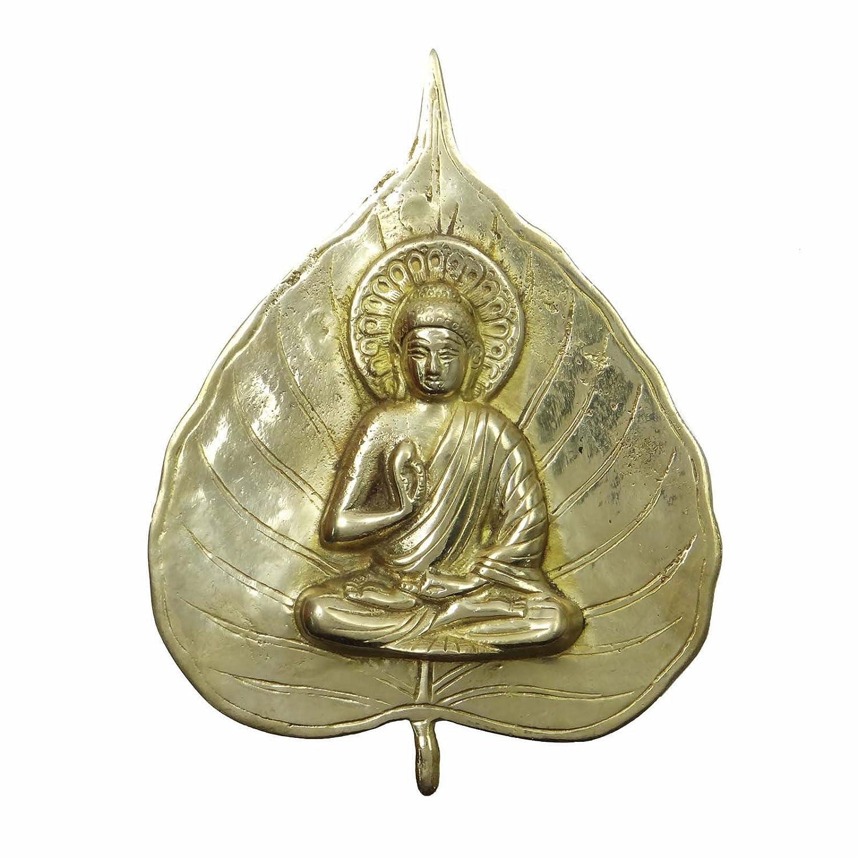 メタリックゴールド真鍮Buddha Wall Hanging宗教Figurine装飾ホームデコレーション