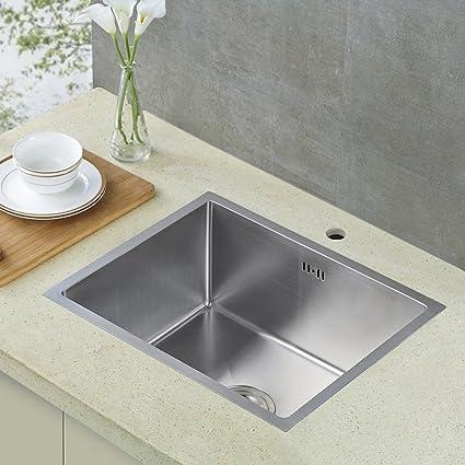 UNION CA® Lavelli per cucina in acciaio inox 450 X 355 X 118 MM (L*W*H) +  Gocciolatoio