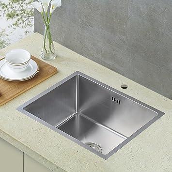 Auralum Lavelli per cucina in acciaio inox 80X 45 X22 CM (L×W×H) + ...