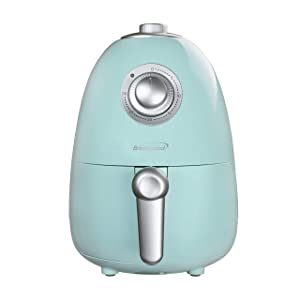 Brentwood AF-200BL 2 Quart Small Electric Air Fryer with Timer & Temp. Control, Blue