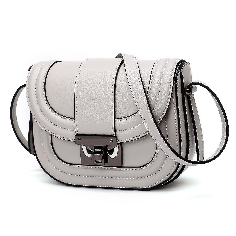 Women Genuine Leather Crossbody Bag Fashion Cowhide Shoulder Purse for Girls