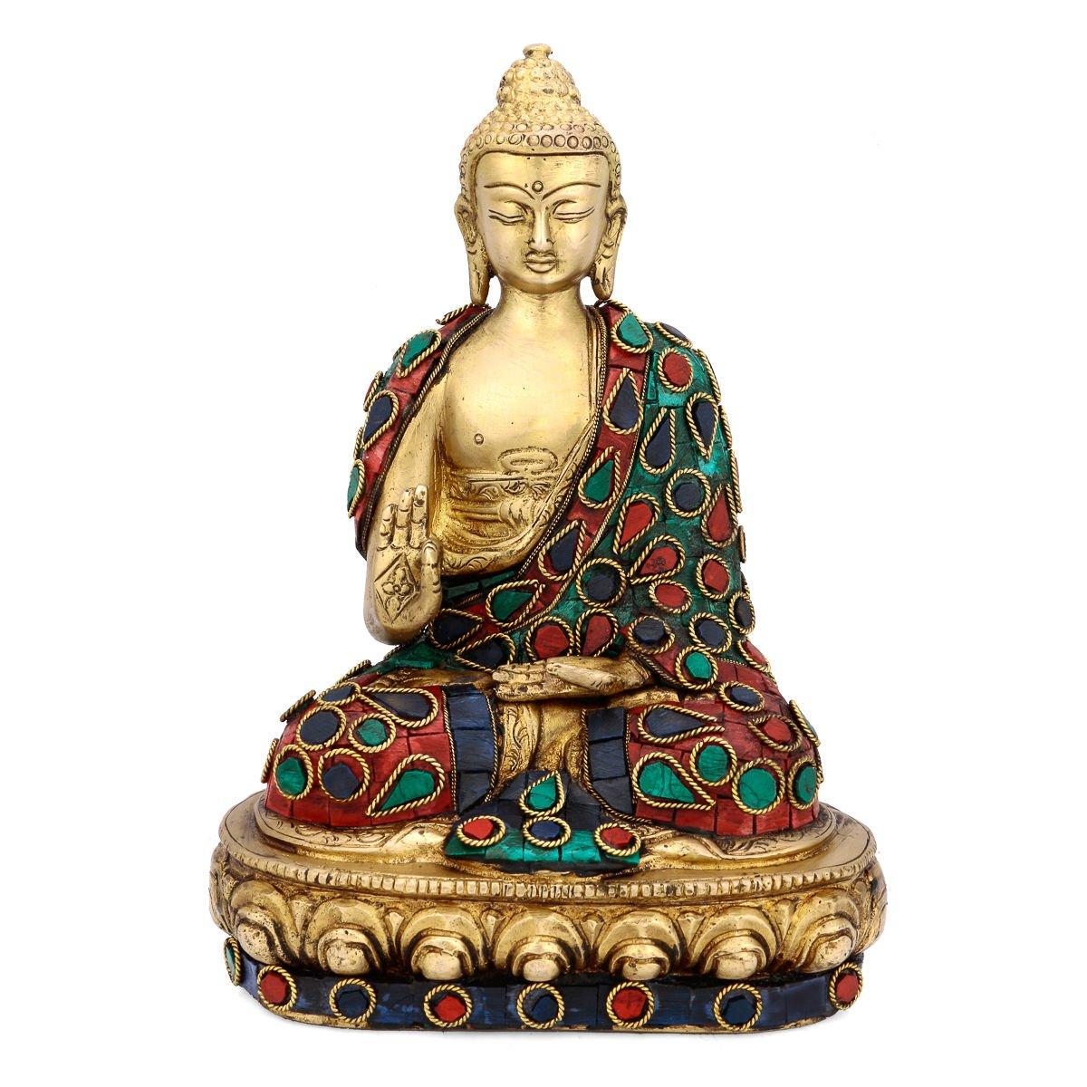 CraftVatika Thai Blessing Zen Buddha Statue Buddhist Peace Harmony Sculpture by CraftVatika