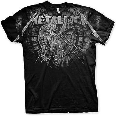 Metallica and Justice For All with Backprint Oficial Camiseta para Hombre: Amazon.es: Ropa y accesorios