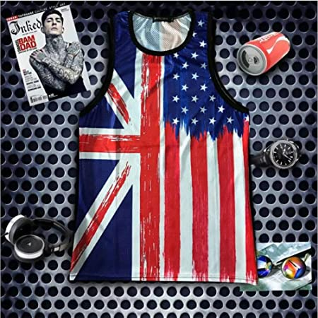 45cea8527a Stillshine Summer Holiday Clothes Mens Print Tank Top with Cool Graphic  Print for Gym Sport and