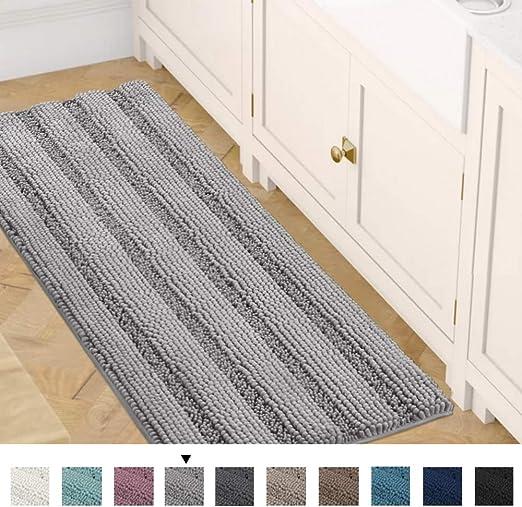 Amazon Com Slip Resistant Bath Rug Runner Washable Striped Large