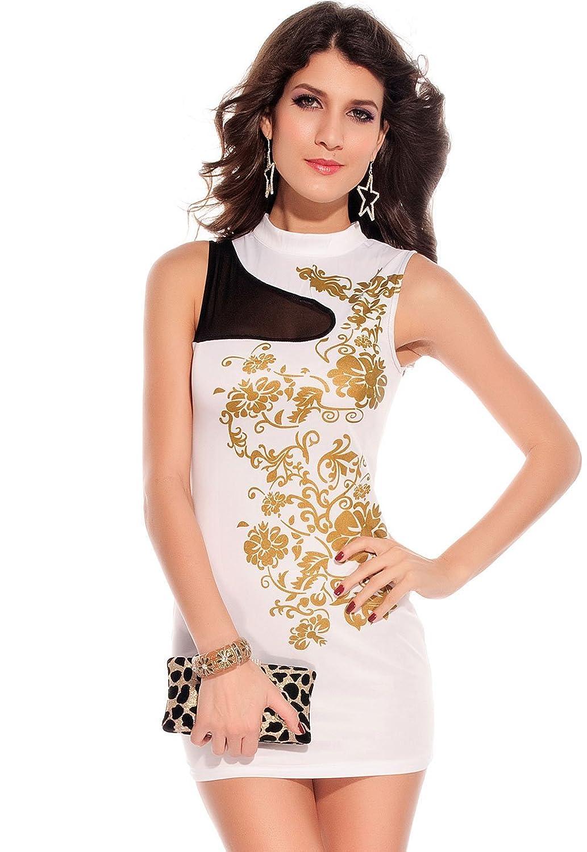 iecool Women's Floral Foil Print Bodycon Dress