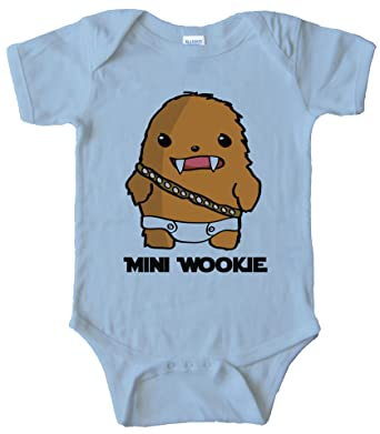 e8069e2d0 Amazon.com: Mini Wookie Baby Chewbacca Onesie: Clothing