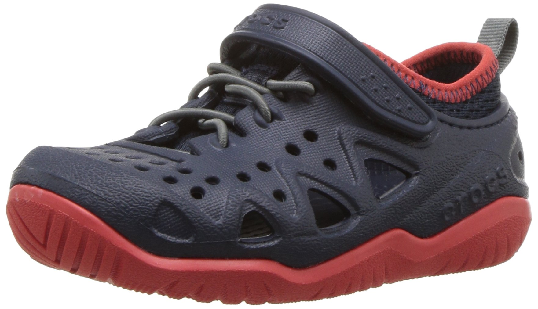 Crocs Kids' Swiftwater Play Shoe, Navy, 7 M US Toddler by Crocs