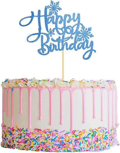 Amazing Amazon Com Snowflake Happy Birthday Cake Topper Frozen Birthday Funny Birthday Cards Online Elaedamsfinfo
