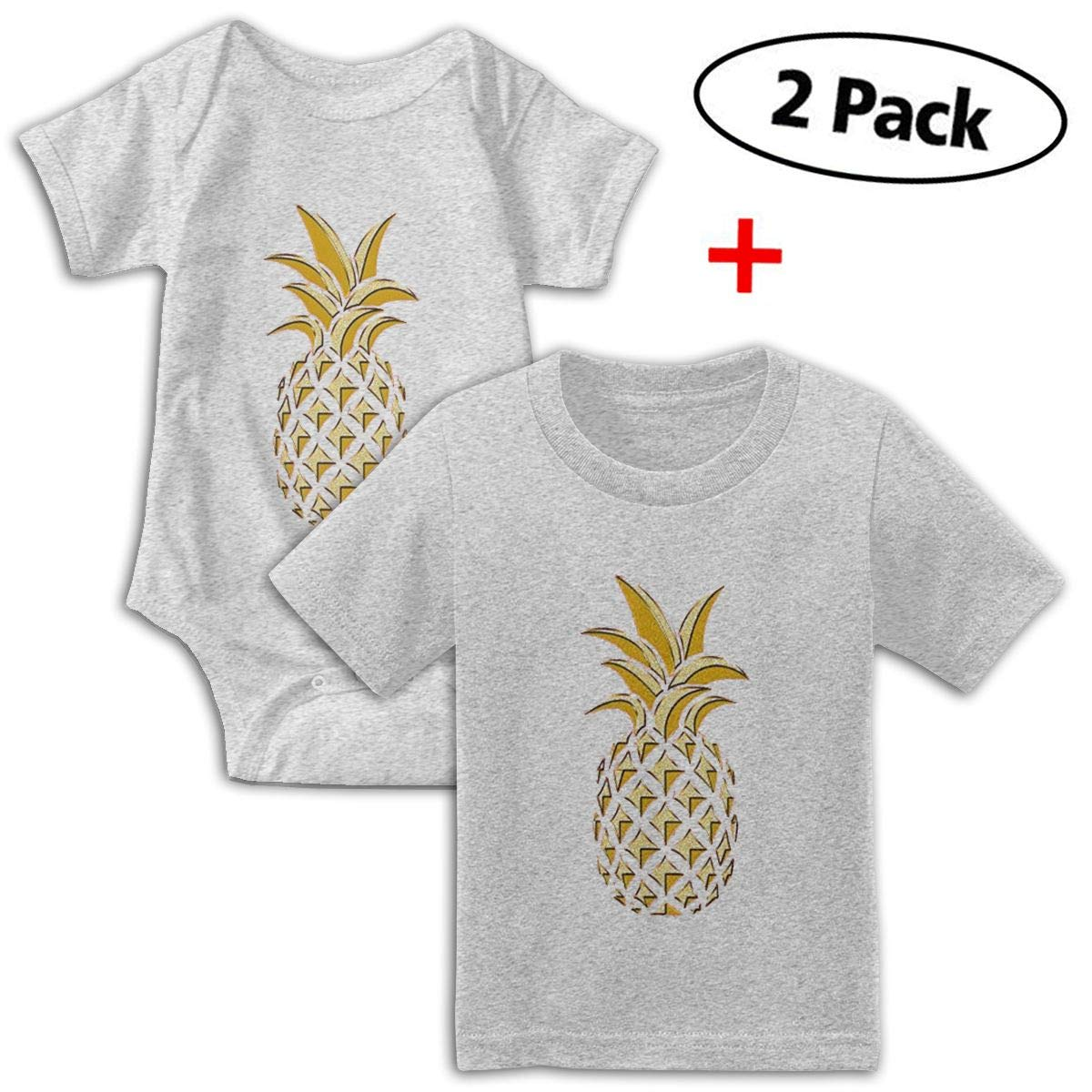 KAYERDELLE Dancing Pineapple Babys Boys /& Girls Short Sleeve Jumpsuit Outfits and Tshirt