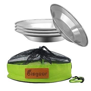 Amazon.com: Bisgear - Juego de 6 platos de cocina de acero ...