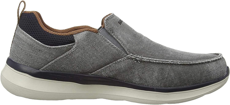 Skechers Delson 2.0 Larwin, Zapatillas sin Cordones para Hombre