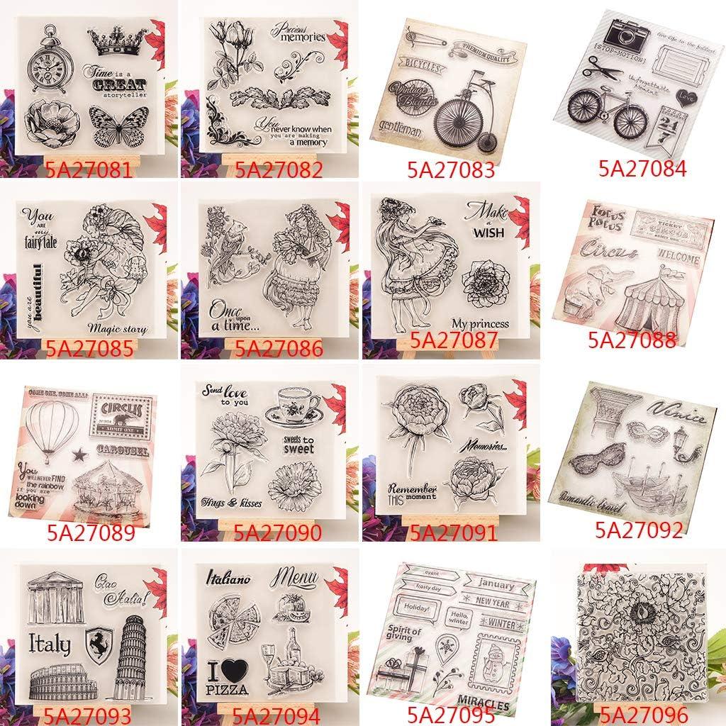 Sigillo trasparente timbro fiore orologio in silicone fai da te scrapbooking album fotografico decorazione