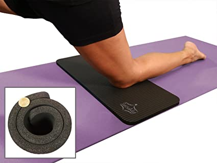 Amazon Com Sukhamat Yoga Knee Pad New 15mm 5 8 Thick The Best Yoga Knee Pad For A Pain Free Fitness Exercise Workout Cushions Pressure Points Complements Your Full Size Yoga Mat