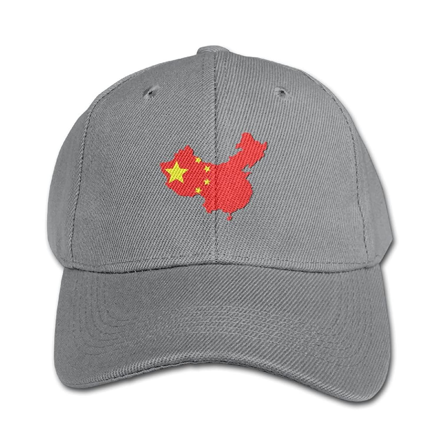 898ff30645099 Map of China with Flag Unisex Print 100% Cotton Snapback Hip-Hop Hat Flat