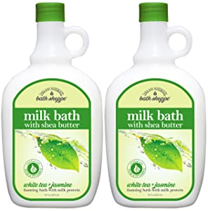 Village Naturals Bath Shoppe, Milk Bath, White Tea and Jasmine, 28 Fl Oz, Pack of 2