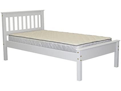 Awesome Bedz King Mission Style Twin Bed, White
