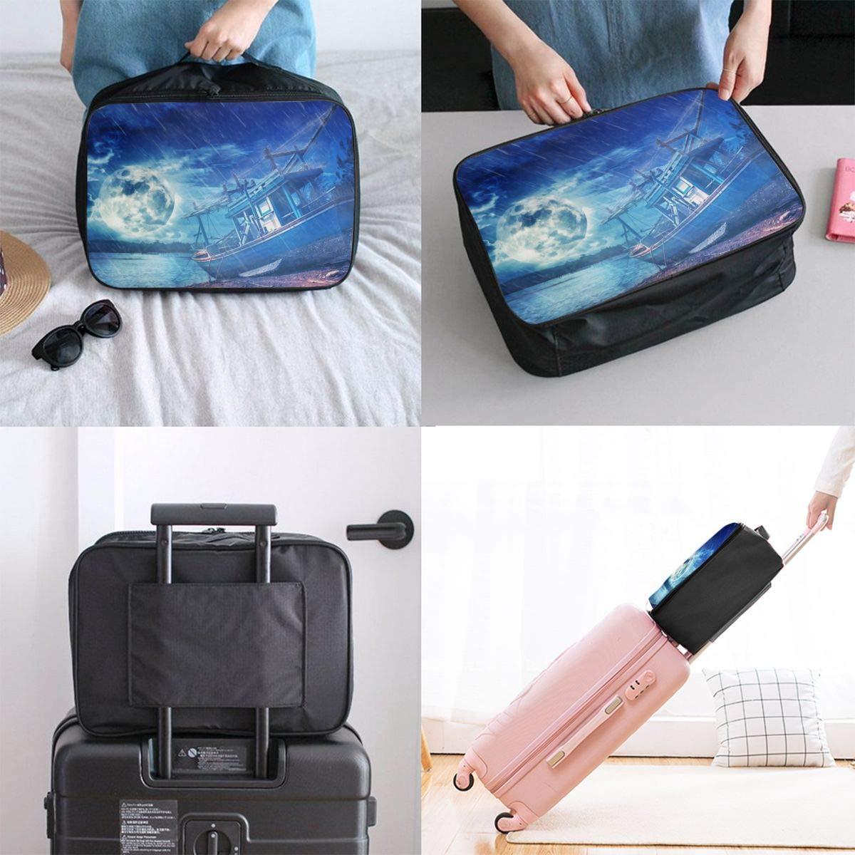 Travel Luggage Duffle Bag Lightweight Portable Handbag Fantasy Stormy Ocean Large Capacity Waterproof Foldable Storage Tote