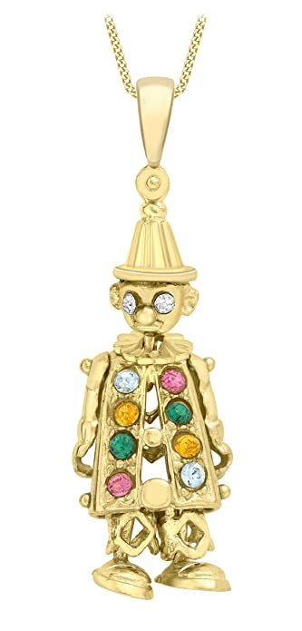 Carissima gold 9 ct yellow gold multicolour cubic zirconia clown carissima gold 9 ct yellow gold multicolour cubic zirconia clown pendant on curb chain necklace of aloadofball Gallery