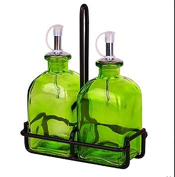 Roman el aceite de oliva y vinagre botella de vidrio de mesa utensilios de cocina,