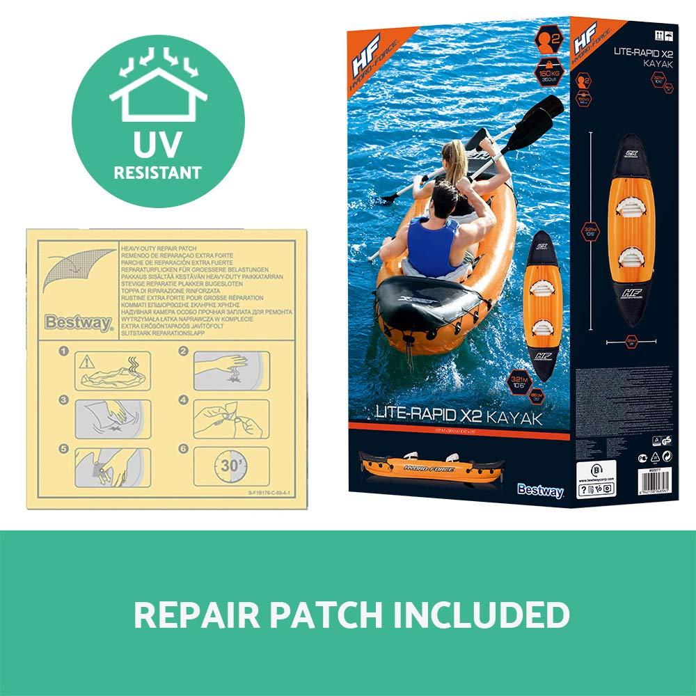 Kayak Hinchable Bestway Hydro-Force Lite-Rapid X2: Amazon.es ...
