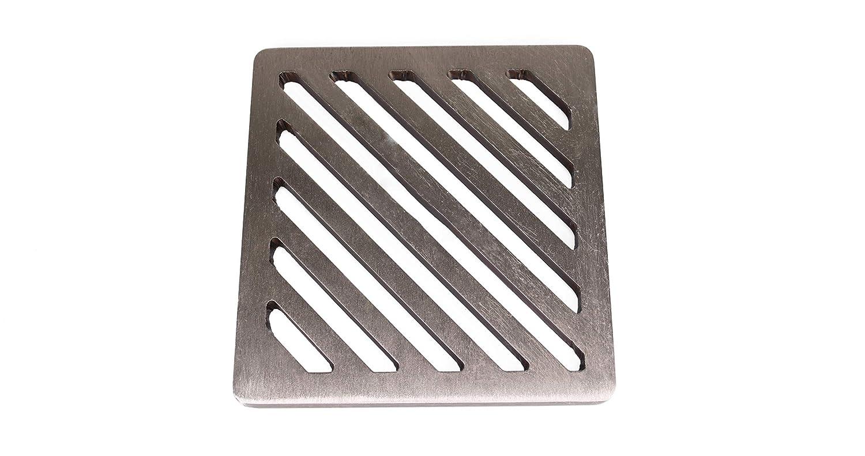 12,7/cm Zoll quadratische Edelstahl massiv Metall Stahl Schlucht Grid Heavy Duty Abfluss Cover ROST wie Gusseisen st/ärker