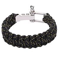 DonDon® Herren Survival Outdoor Nylon Armband geflochten // verschiedene Farben wählbar