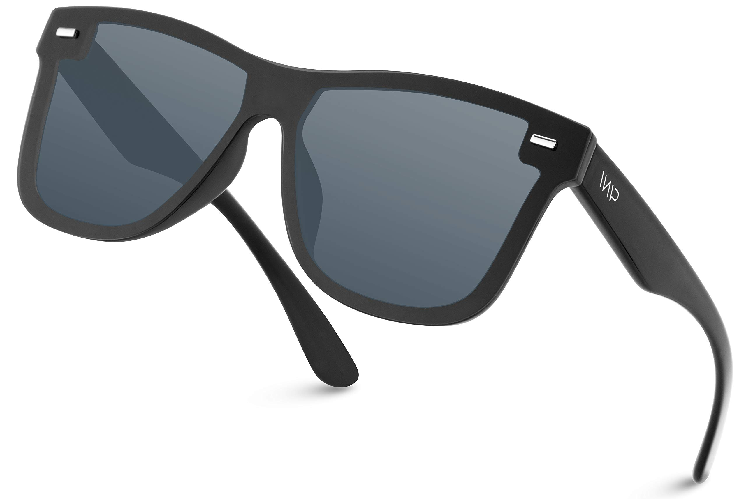 WearMe Pro - Polarized Full Mirror Flat Lens Square Modern Sunglasses by WearMe Pro