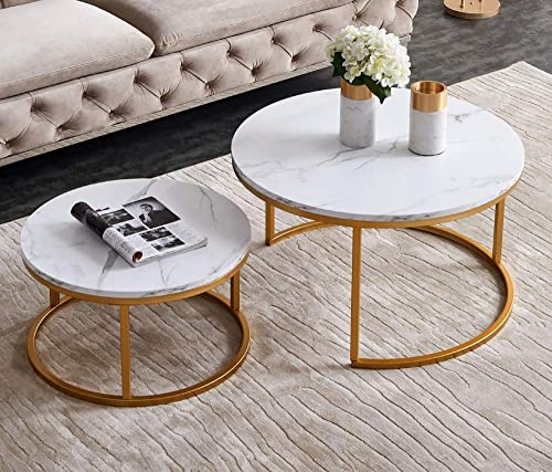 JIAYOUNG Coffee Table Modern Round Table
