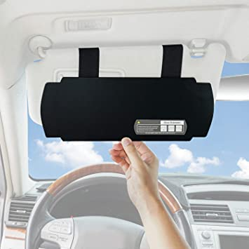 1pc, Black Side Window Sun Visor Extender Windshield Sunshade and UV Rays Blocker SAILEAD Sun Visor Sunshade Extender for Car