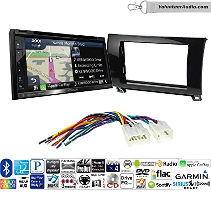 Volunteer Audio Kenwood DNX574S Double Din Radio Install Kit with GPS Navigation Apple CarPlay Android Auto