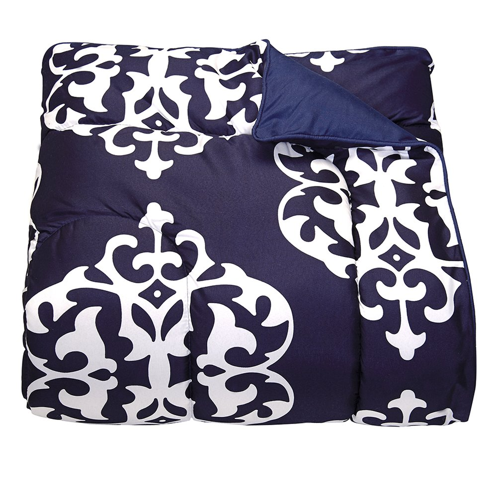 Campus Linens Navy Medallion Twin XL Comforter for College Dorm Bedding