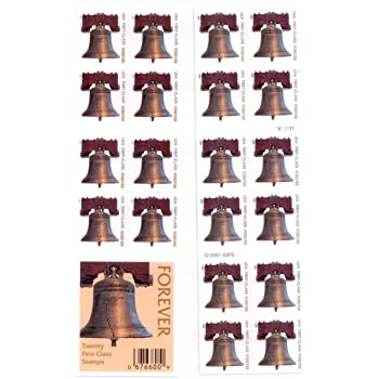 Amazon Com Usps Forever Stamps Liberty Bell Booklet Of 20 Toys Amp Games