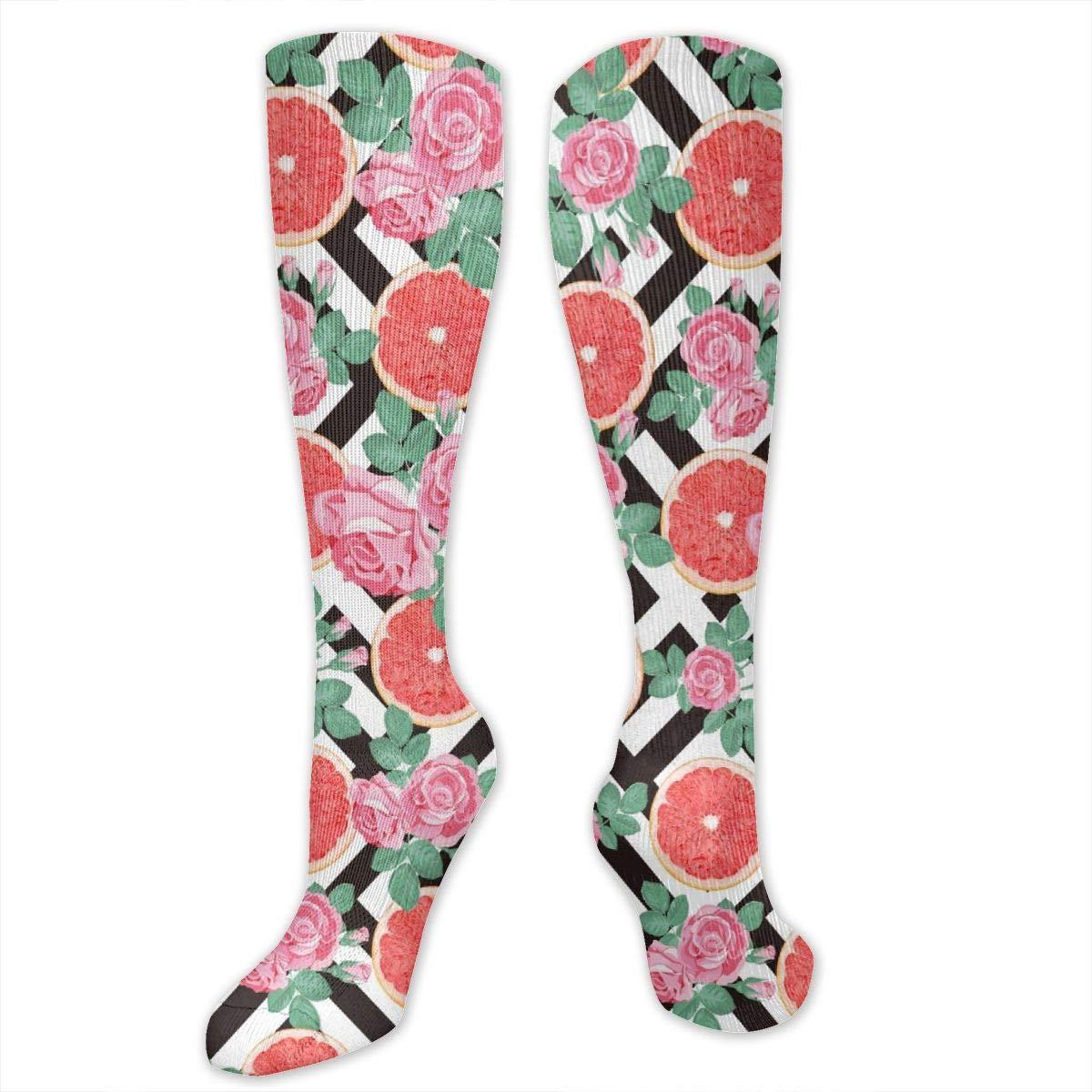 Personalized Grapefruit Socks Long Knee High Boot Socks