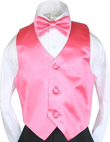 2PC VEST NECK TIE Set for Toddler Formal /& Boy/'s SUIT TUXEDO Sz 2T-14 Wedding