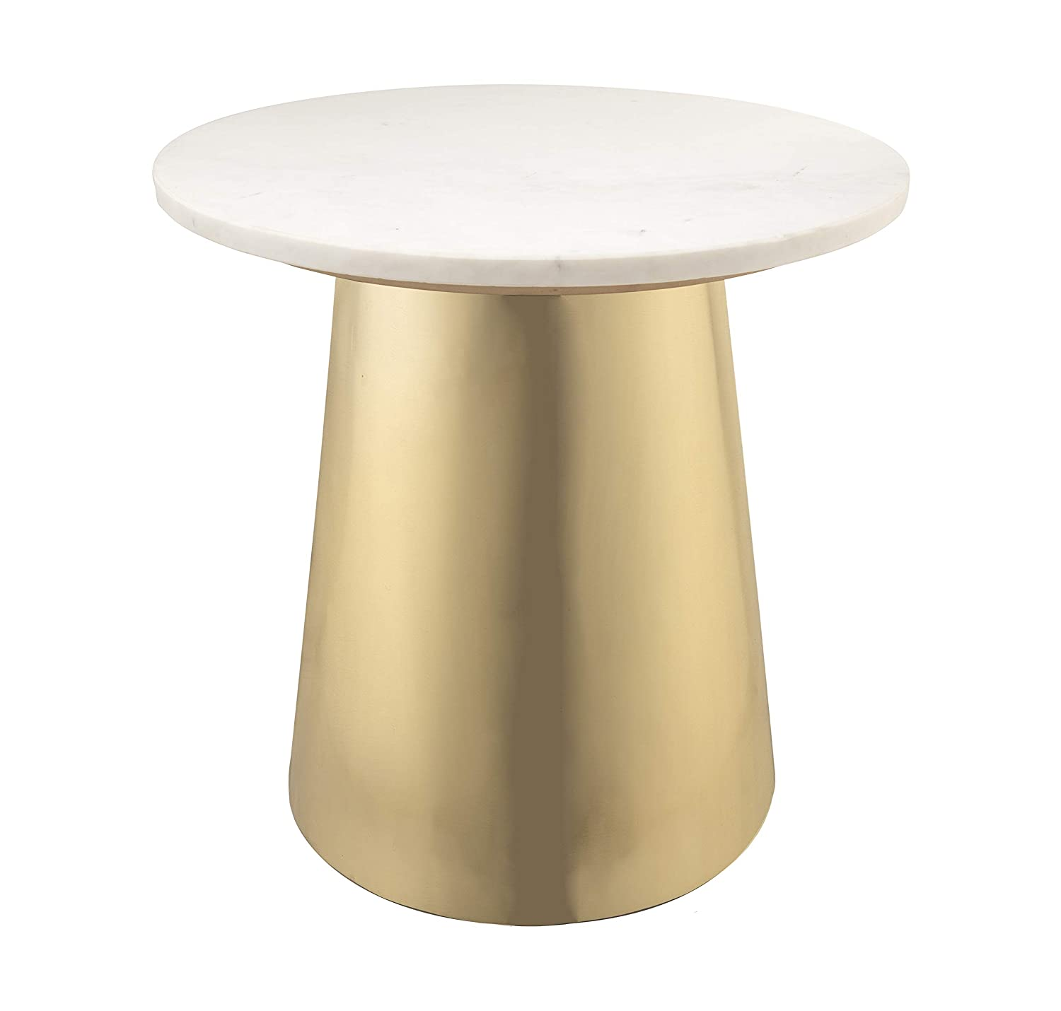 Amazon com tov furniture tov oc18135 bleeker modern marble side table 20 gold white kitchen dining