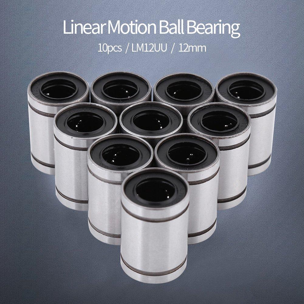 10 St/ücke LM12UU 12mm Linear Motion Kugellager Buchse Maschine Zubeh/ör f/ür 12mm Stange 3D Drucker CNC MEHRWEG VERPACKUNG socialme-eu
