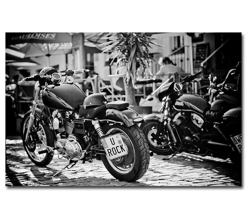 Leinwand Harley Davidson Motorrad --- U Rock --- Kunstdruck Easy Rider Biker posterdeluxe
