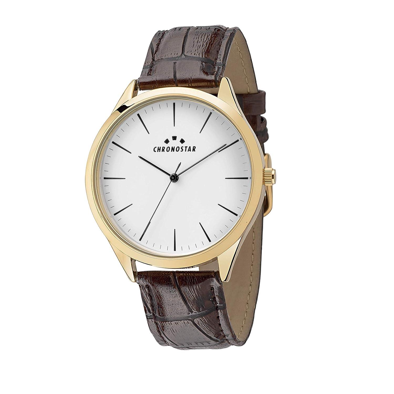 Chronostar Analog Uhr R3751245013 Quarz Leder Mit Herren Armband nXONwP80kZ