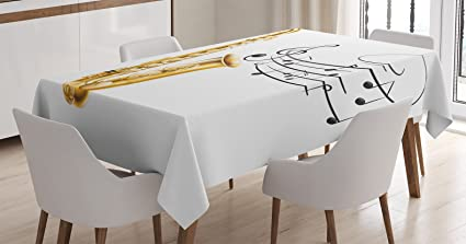 amazon com ambesonne music tablecloth illustration of fancy old