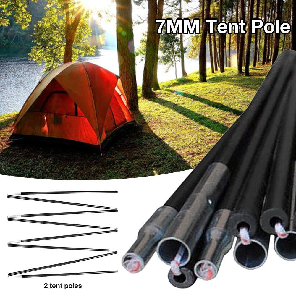 Katurn 7MM Zeltstange Glasfaserrute Curved Tent Unterst/ützung Tent Rod Zubeh/ör F/ür Outdoor-Camping