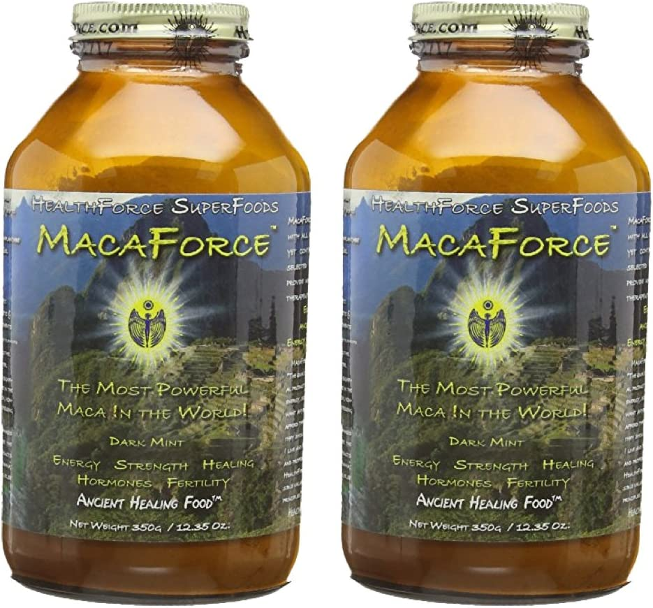 Healthforce Macaforce Dark Mint, Powder, 350-Grams - 2 Pack (Discontinued by Manufacturer)