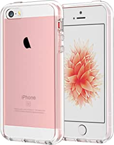 JETech Case for iPhone SE (2016 Edition), iPhone 5s and iPhone 5, Shockproof Bumper Cover, Anti-Scratch Clear Back, HD Clear