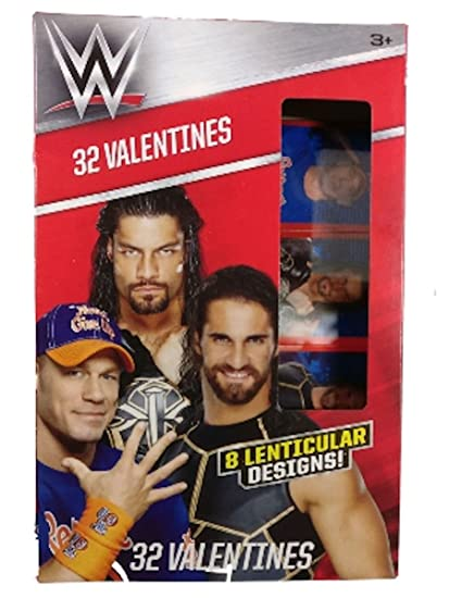 Amazoncom Wwe 32 Lenticular Valentine Cards Office Products